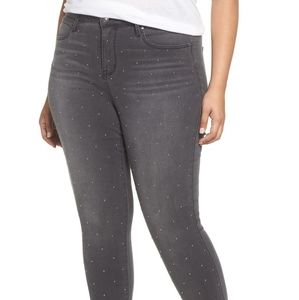 Seven7High Rise Skinny Jeans Studded plus size